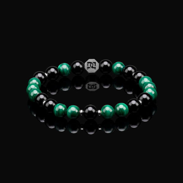 MALACHITE ESSENTIAL SILVER 8MM BRACELET