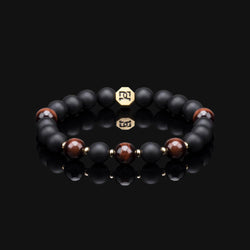 "RED TIGER EYE ESSENTIAL GOLD 8MM ""FIRE"" BRACELET"