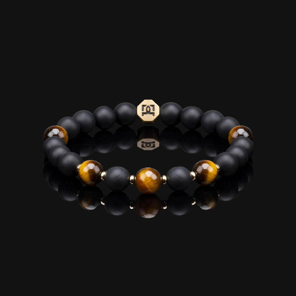 "YELLOW TIGER EYE ESSENTIAL GOLD 8MM ""EARTH"" BRACELET"