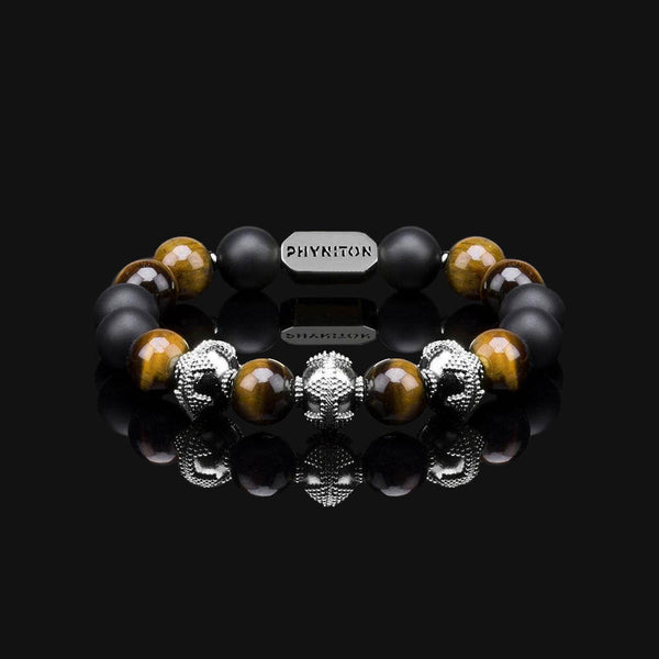 "YELLOW TIGER EYE PREMIUM BLACK GOLD 10MM ""EARTH"" BRACELET"