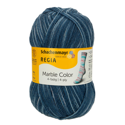 REGIA 4-fädig Color - Turchino marble 100g