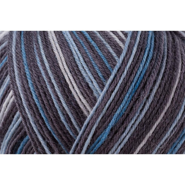 REGIA 4-fädig Color - Blue Stripe 100g