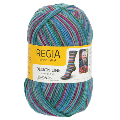 REGIA 4-fädig Color Design Line by Kaffe Fasset - Cool 100g