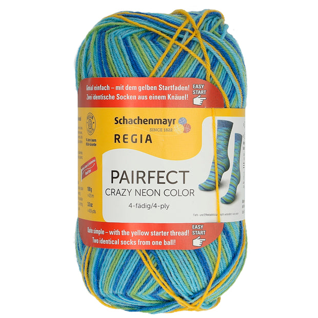 REGIA 4-fädig Color - PAIRFECT - Crazy Lightblue 100g