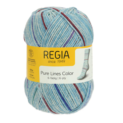 REGIA 6-fädig Color - Pure sky blue 150g