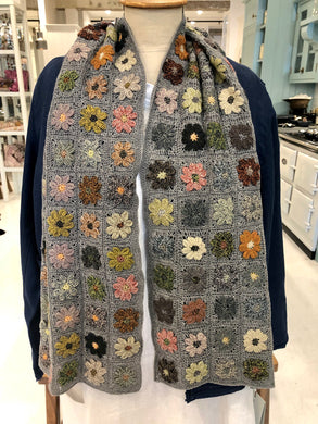 Large Crocheted Wool Scarf by Sophie Digard