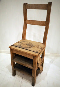 Antique Chair with Ladder
