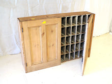 Load image into Gallery viewer, 60 Pigeon holes wall hanging Pine cupboard