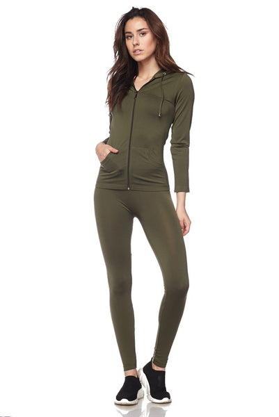 OLIVE Hoodie with Leggings!