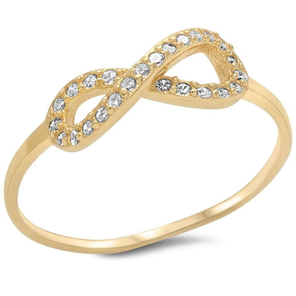 Beautiful Gold Plated Dainty Infinity Ring