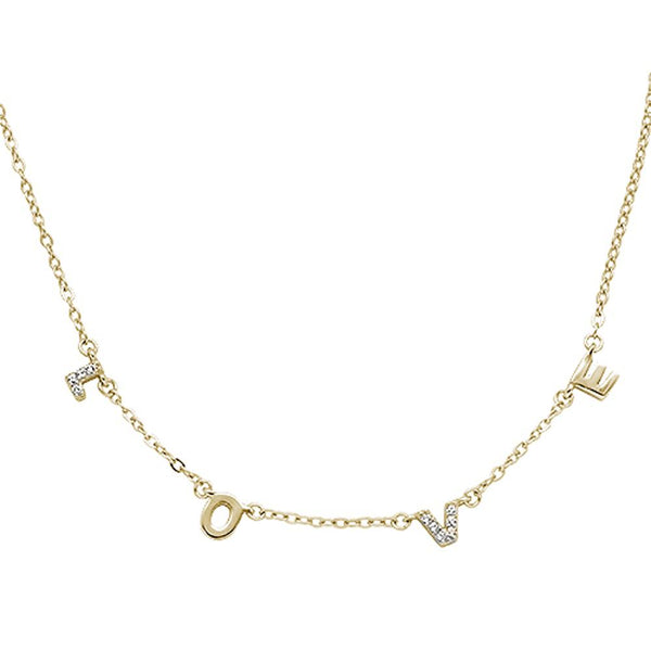 Dainty Rose gold plated L.O.V.E necklace