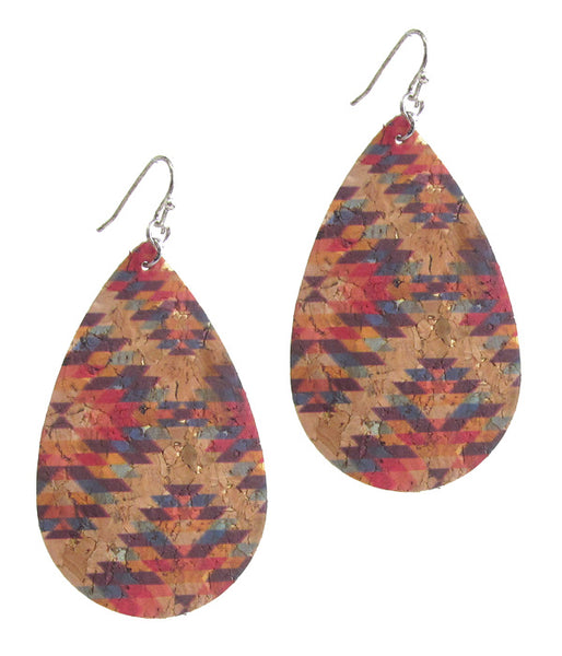 Southwestern style cork earrings