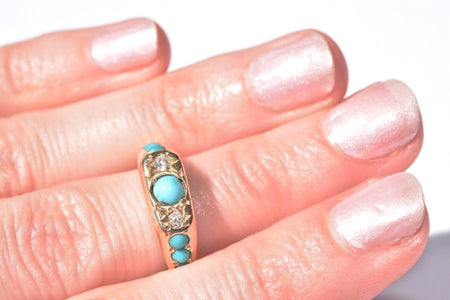 Gold + Turquoise +Diamonds