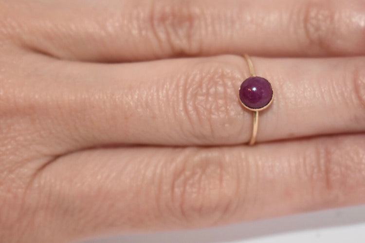 Ruby Cabochon Stacking Ring