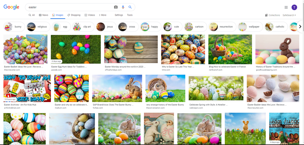 Choose Easter Picture Screen