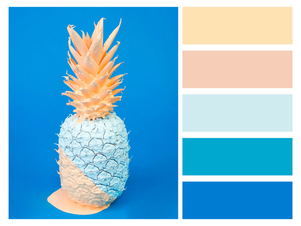 Color Palette Abstract Art Pineapple Vivid Color