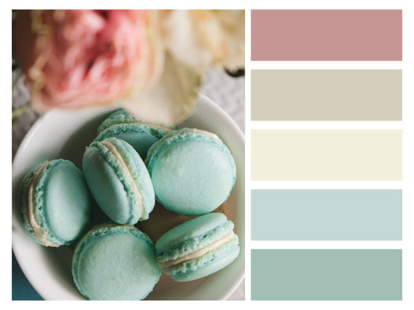 Color Palette Food Photos Macaroons Chic Pastel Tone