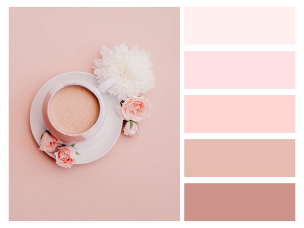 Color Palette Food Photos Coffee Natural Pink Tone