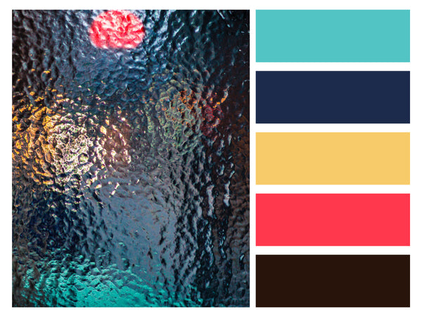 Color Palette Abstract Art Rainy Window Vintage