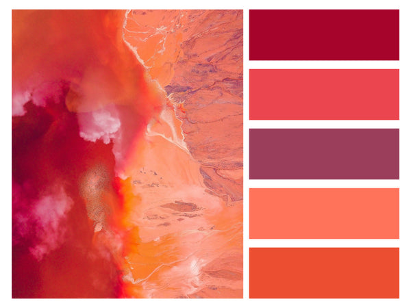 Color Palette Abstract Art Fire Red