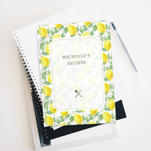 Load image into Gallery viewer, Garden Lemon Personalized Recipe Journal - Ruled Line
