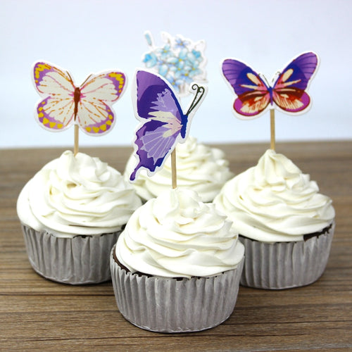 Enchanted Forest Butterfly Cupcake Toppers (24pcs)