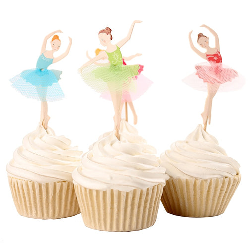 Ballerina Friends Cupcake Toppers (Set of 24)