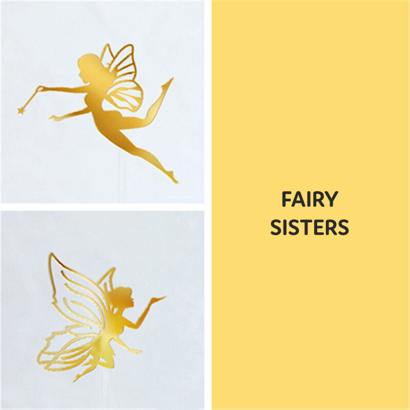 Fairy Wonderland Cake Topper Set-Fairy-2 Piece Fairy Sisters-Cheery Toppers