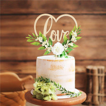 "Load image into Gallery viewer, Rustic ""Love"" Cake Topper and Decorations (Maryam 2)-Bridal Shower, Rustic Wedding, Succulent, Valentine's Day-Wooden Love Flower-Cheery Toppers"