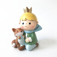 "Load image into Gallery viewer, Prince Fox and Rose Gold/Blue Birthday Cake Toppers-""happy birthday"", 1st birthday-Prince with Fox-Cheery Toppers"