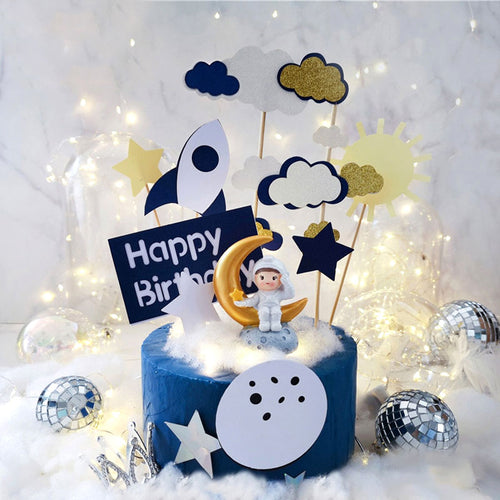 Girl or Boy Astronaut/Space Cake Topper-Space-Girl Astronaut-Cheery Toppers