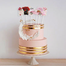 Load image into Gallery viewer, Elegant Pink Fashionable Girl Cake Topper