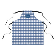 Load image into Gallery viewer, Blue Gingham Personalized Apron-Accessories-Cheery Toppers