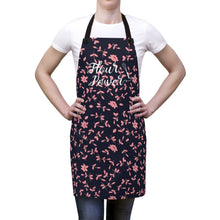 Load image into Gallery viewer, Pink and Purple Flour Power Apron-Accessories-Cheery Toppers