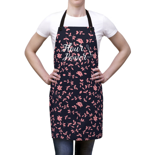Pink and Purple Flour Power Apron