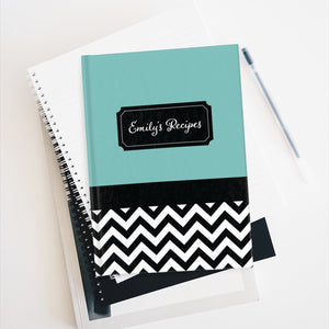 Chevron Pattern Personalized Journal - Ruled Line