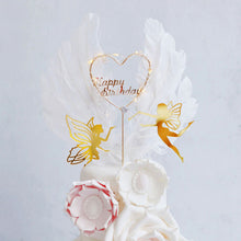"Load image into Gallery viewer, Fairy Wonderland Cake Topper Set-Fairy-""Happy Birthday"" Heart-Cheery Toppers"
