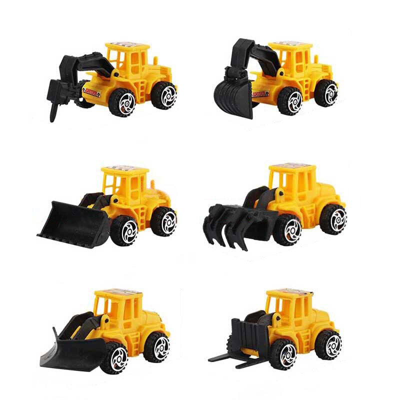 Get Creative Construction Cake Toppers-Trucks-6 Piece Plastic Trucks-Cheery Toppers