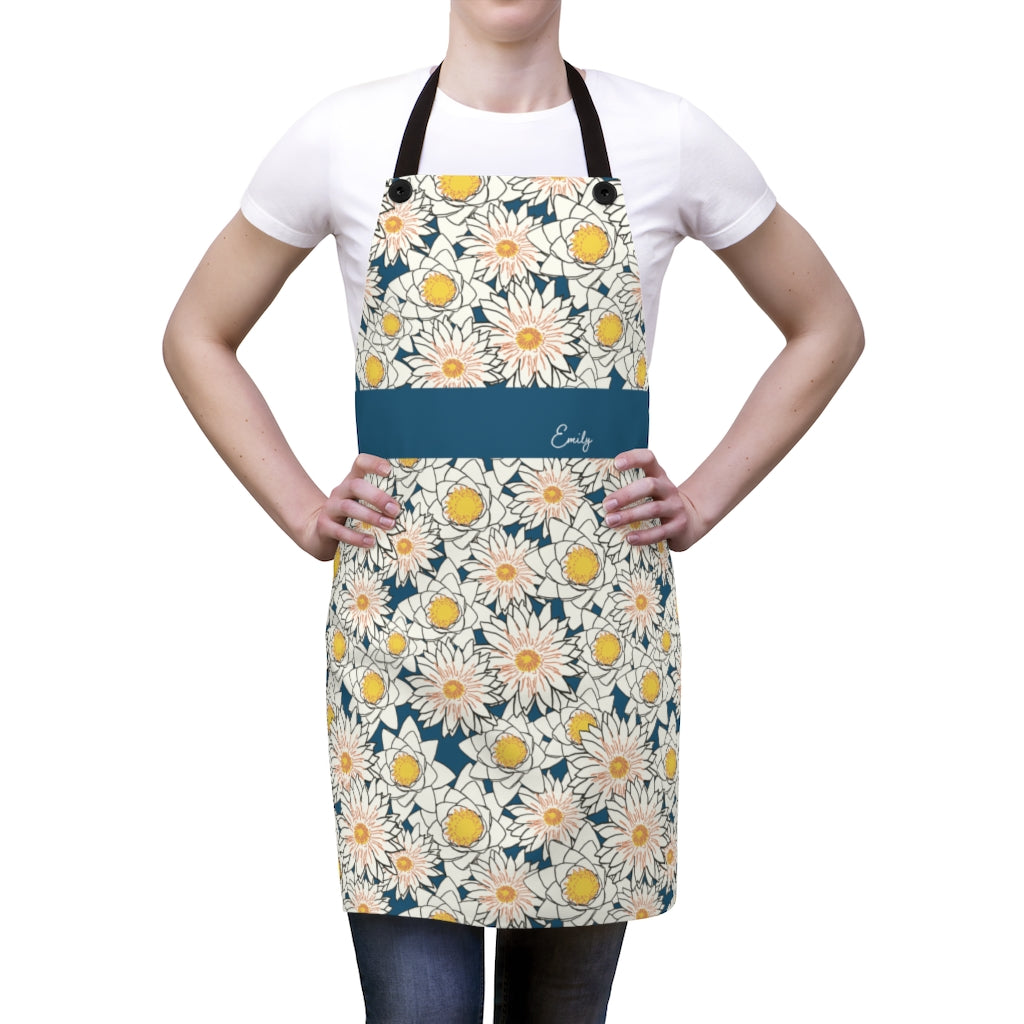 Flower Apron with Personalized Name