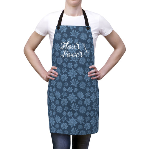 Blue Flour Power Apron-Accessories-Cheery Toppers
