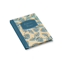 Load image into Gallery viewer, Blue Flower Personalized Recipe Journal - Ruled Line