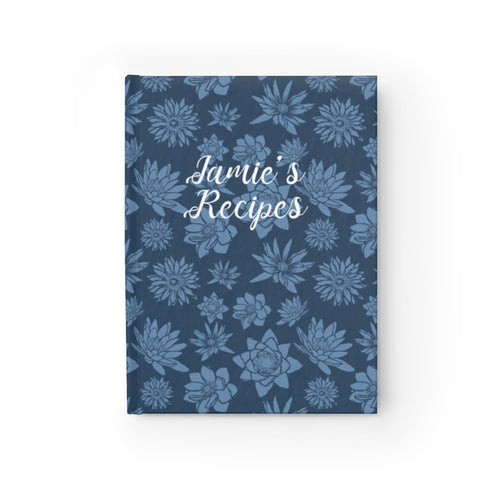 Flower Pattern Personalized Recipe Journal - Ruled Line-Paper products-Cheery Toppers