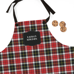 Red and Black Plaid Personalized Apron