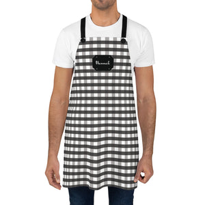 Black Gingham Personalized Apron-Accessories-Cheery Toppers