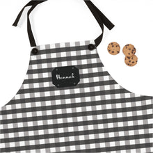 Load image into Gallery viewer, Black Gingham Personalized Apron