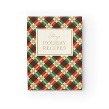 Load image into Gallery viewer, Holiday Recipes Personalized Journal - Ruled Line-Paper products-Cheery Toppers