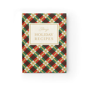 Holiday Recipes Personalized Journal - Ruled Line-Paper products-Cheery Toppers