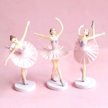 Load image into Gallery viewer, Pink Tutus Ballerina Cake Topper Set-Ballerina-3 Piece Ballerinas (Pink)-Cheery Toppers
