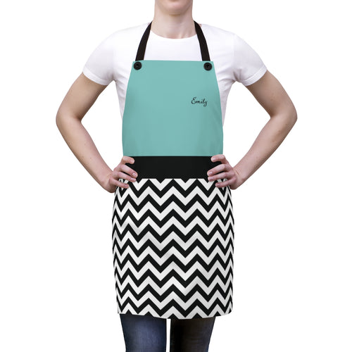 Chevron Pattern Personalized Apron-Accessories-Cheery Toppers