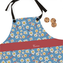 Load image into Gallery viewer, Koi Fish and Flower Apron with Personalized Name